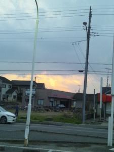 不思議な雲 渦巻き?