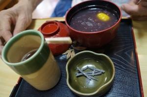 2014_京都 伏見稲荷の茶店 栗ぜんざい